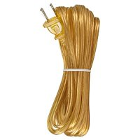 Satco 18/2 SPT-1-105 Degree C Molded Plug Tinned Tips 3/4in Strip with 2in Slit 20 Ft Clear Gold