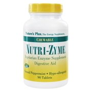 Nature's Plus - Nutri-Zyme Chewable Digestive Aid Peppermint - 90 Chewable Tablets