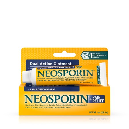 Topical Antiseptic Ointment - Neosporin + Pain Relief Dual Action Topical Antibiotic Ointment, 1 oz