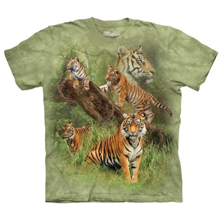 The Mountain WILD TIGER COLLAGE Green Youth Unisex - Green Tiger