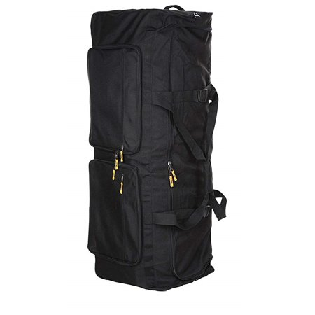 Gilbins Camp Soft Trunk - Black, Size: 52 x 18 x 20, 18,720 Cu. Inch