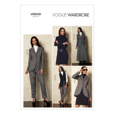 Misses Vest Jacket Top Dress Skirt And Pants 12 14 16 18 20
