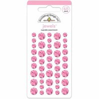 Doodlebug Adhesive Jewels 6mm, 8mm & 10mm 45/Pkg-Cupcake