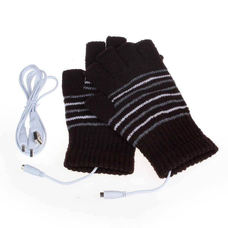 5V USB Powered Heating Heated Winter Hand Warmer Gloves Washable CO