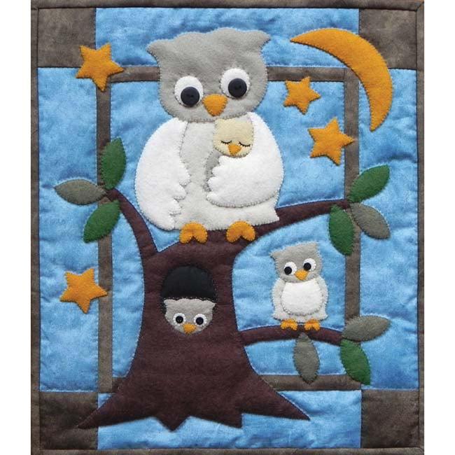 Owl Family Wall Quilt Kit-Owl Family