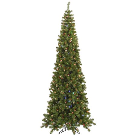 75 pencil artificial christmas tree color changing led lights