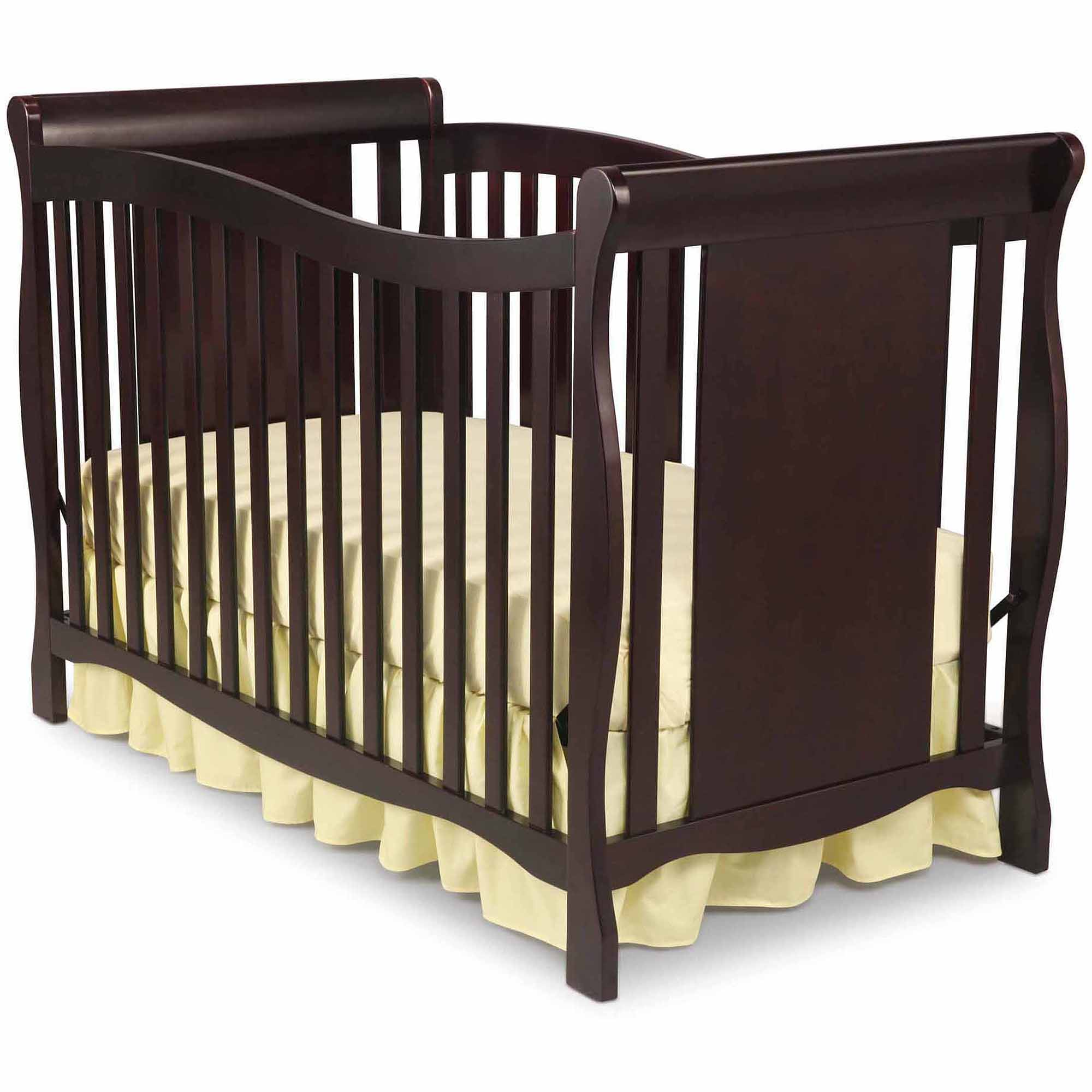 delta children brookside 4in1 convertible crib dark chocolate walmartcom