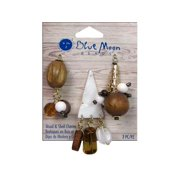 BMB W&S Charm Wood Shell Small Dangles Gold