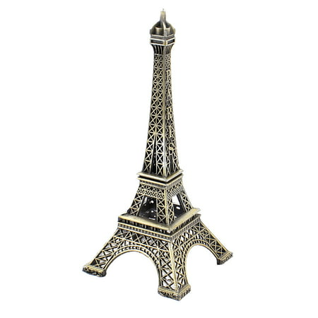 Paris Souvenir Eiffel Tower (13cm Height Metal Paris Eiffel Tower Model Statue Souvenir Decor Bronze)