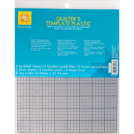 ez quilting 882670027 quilters template plastic assortment 6 pieceused for making reusable quilt templates