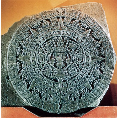 Aztec Calendar Stone.Aztec Calendar Stone Stretched Canvas Science Source 18 X 18