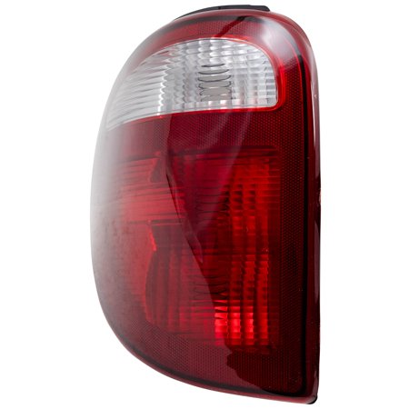 Caravan Voyager Van (BROCK Taillight Tail Lamp with Connector Plate Driver Replacement for 01-03 Dodge Caravan Chrysler Town & Country Voyager Van)