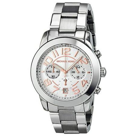 40e61966746c19 Michael Kors - Michael Kors Mercer Chronograph Silver Dial Ladies Watch  MK5725 - Walmart.com