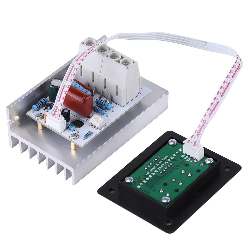 Dimmer Switch,10000W SCR Digital Voltage Regulator Speed Control Dimmer Thermostat AC 220V 80A
