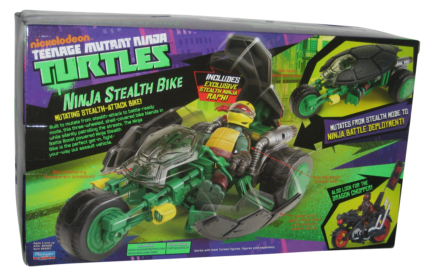 Teenage Mutant Ninja Turtles Ninja Stealth Bike mutation Stealth Bike Ralph NEUF