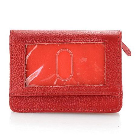 Lock Wallet - RFID Blocking Wallet for Men and Women - Protection from Identity Theft (Red) Push Lock Wallet
