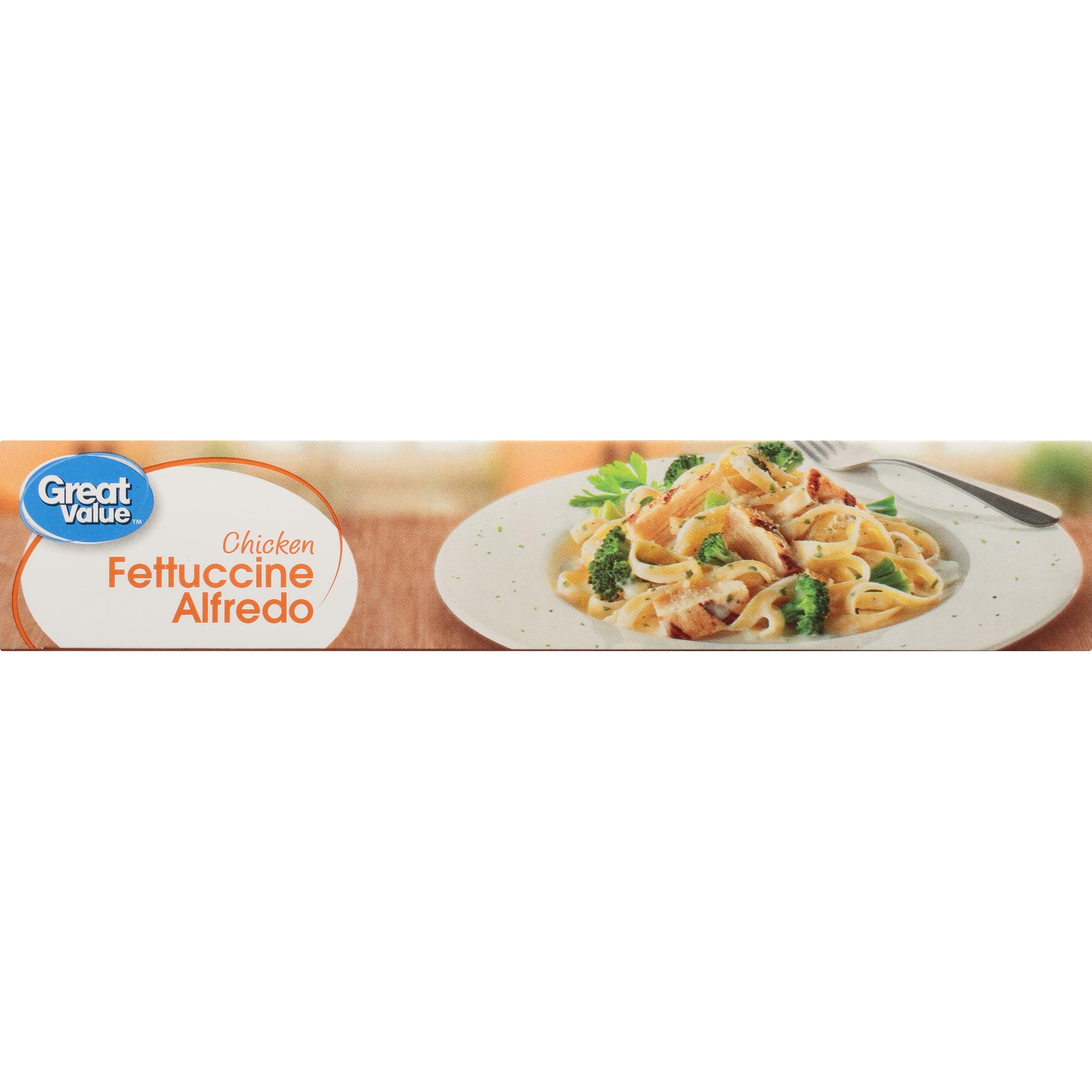 Great Value Chicken Fettuccine Alfredo, 10 oz - Walmart.com