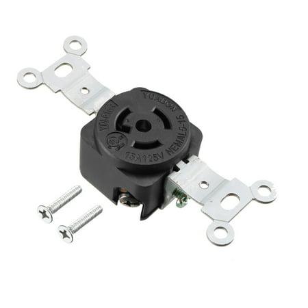 Locking Connector Female NEMA L5-15C, 15A 125VAC, 2 Pole 3 Wire Grounding