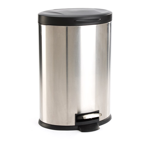 Mainstays Oval 3 2 Gallon Trash Can Stainless Steel