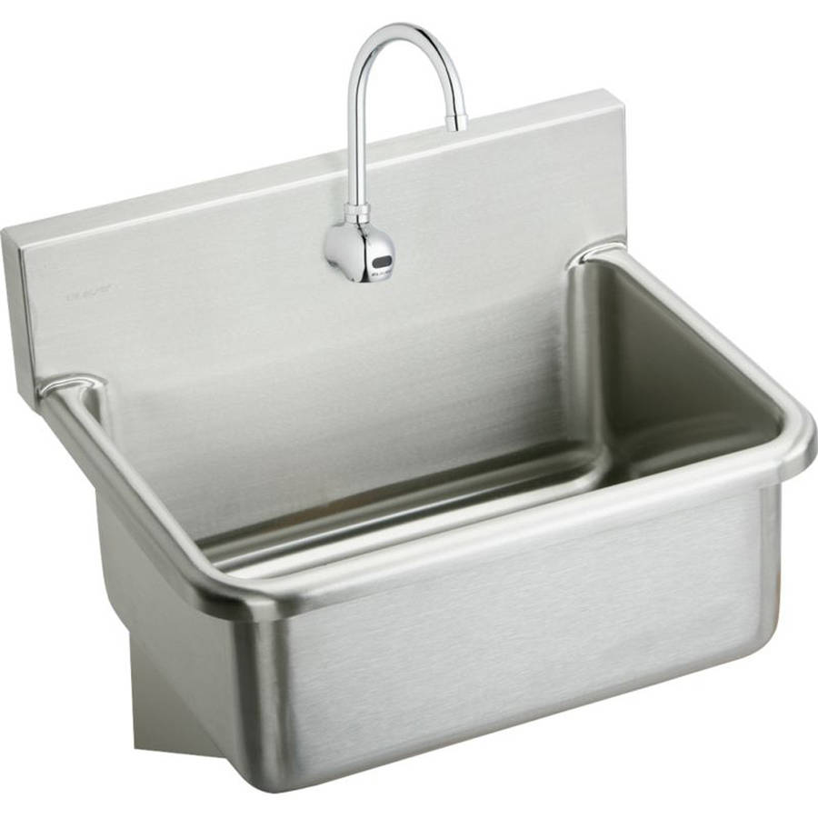 Elkay EWS2520SACMC Commercial Scrub Sink Package with Single Faucet Hole