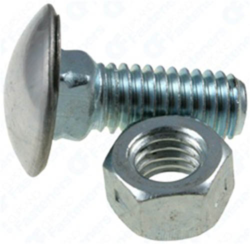 """25 3//8/""""-16 x 7//8/"""" Stainless Capped Bumper Bolts W//Nuts"""