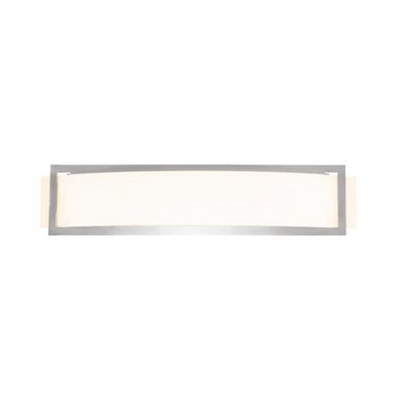 Access Lighting 62105LED-BS-OPL Applique murale pour applique murale ADA en acier bross- - DEL Argon de 23 po - image 1 de 1