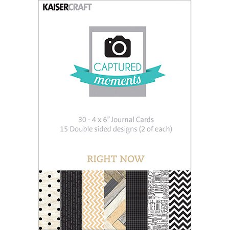 Captured Moments Double Sided Cards  6  X 4   30 Pack  Right Now