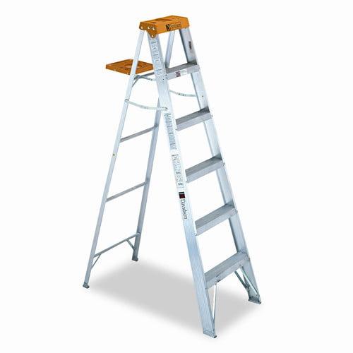 6 Ft Aluminum Louisville Folding Step Ladder With 225 Lb Load Capacity Walmart Com