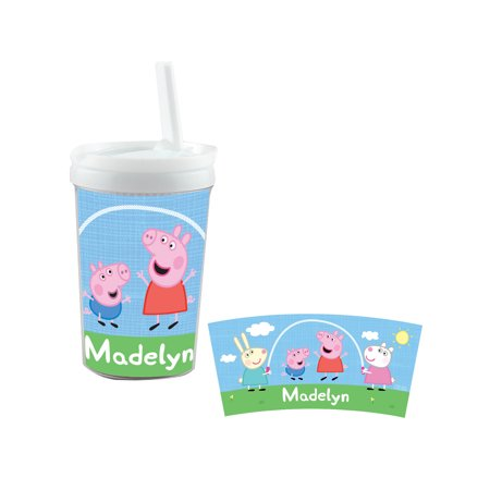 Personalized Peppa Pig Playtime Pals Sippy Cup - Peppa Pig Straws