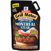 (4 Pack) McCormick Grill Mates Montreal Steak Steakhouse Burgers Sauce Mix-Ins, 2.83 oz