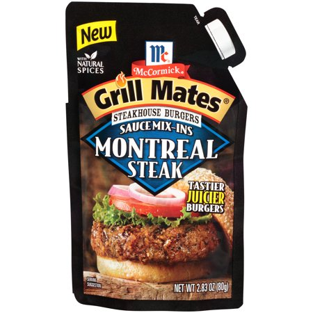 (4 Pack) McCormick Grill Mates Montreal Steak Steakhouse Burgers Sauce Mix-Ins, 2.83