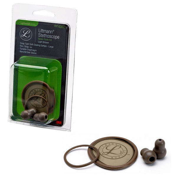 3M Littmann Stethoscope Spare Parts Kit, Lightweight II S.E., Light Brown