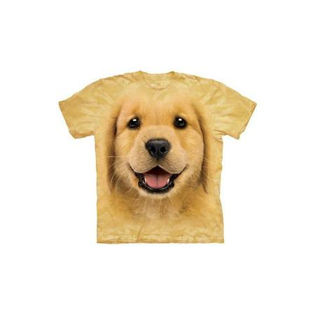 Golden Retriever Puppy Face Close Up Pet Dog Big Boys T-Shirt Tee - Puffy Skirts For Kids