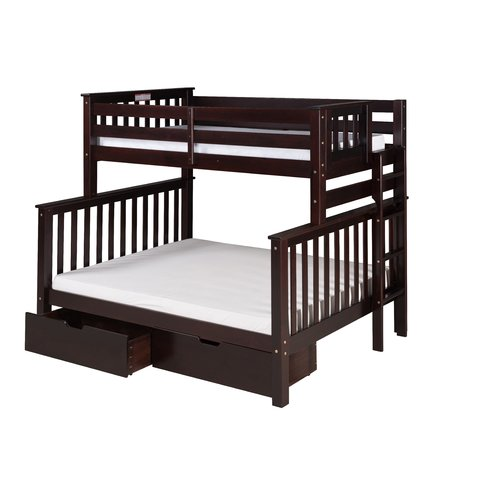 Camaflexi Santa Fe Mission Tall Bunk Bed with Storage