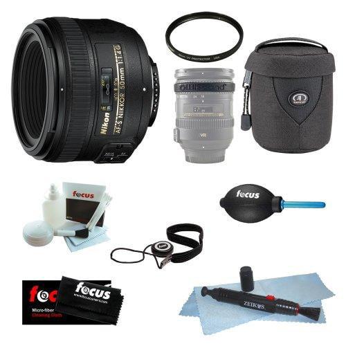 Nikon AF-S 50mm f/1.4G SIC SW Prime Nikkor Lens Bundle with 58mm UV Filter + Lens Case + Lens Band + Accessories