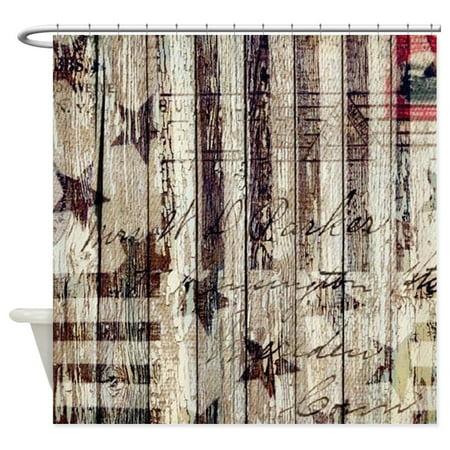 7d60ef0bb122 CafePress - Grunge USA Flag - Unique Cloth Shower Curtain - Walmart.com
