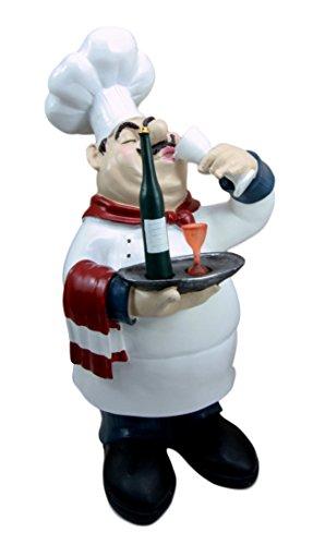 "Atlantic Collectibles Chef Pierre Wine Tasting Expert French Bistro Statue Kitchen Decor Figurine 14""H by Atlantic collectibles"