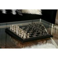 Decmode Aluminum Wood Chess Set, Multi Color