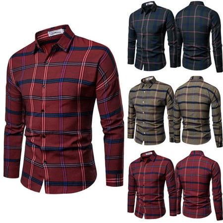 Luxury Dress Shirt (Men's Luxury Casual Formal Shirt Long Sleeve Slim Fit Business Dress Shirts)