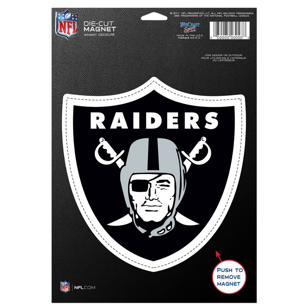 "Oakland Raiders WinCraft 6"" x 9"" Car Magnet - No Size"