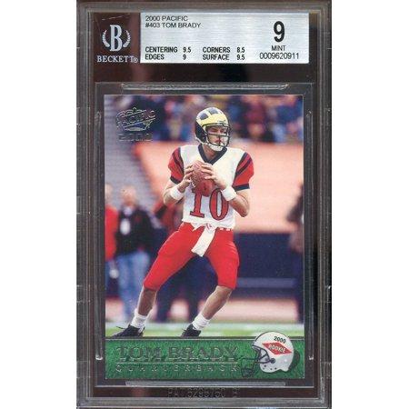 2000 Pacific  403 Tom Brady New England Patriots Rookie Bgs 9  9 5 8 5 9 9 5