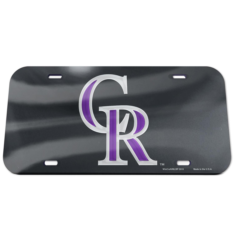 Colorado Rockies WinCraft Logo Crystal Mirror License Plate - No Size