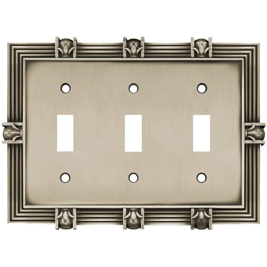 Brainerd Pineapple Triple Switch Wall Plate, Available in Multiple Colors