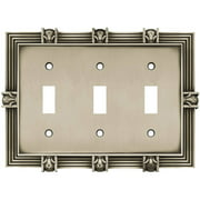 Franklin Brass Pineapple Triple Switch Wall Plate, Available in Multiple Colors