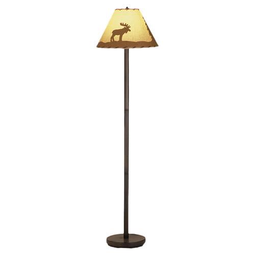 60 Inch H Moose Painted Floor Lamp