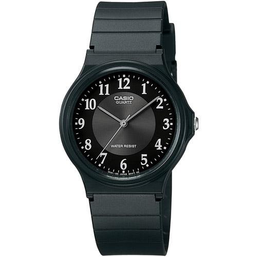 Casio Men's Rubber Strap Analog Watch, Black