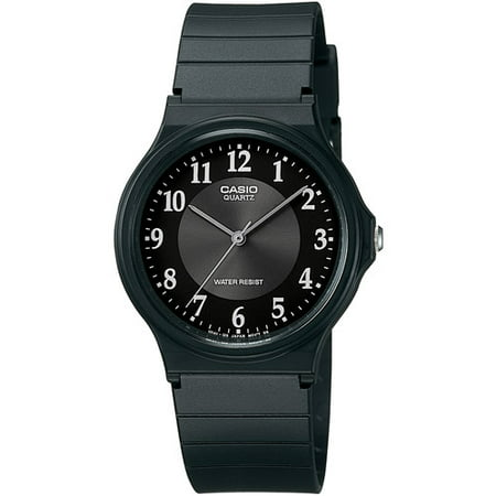 Men's Rubber Strap Analog Watch, Black
