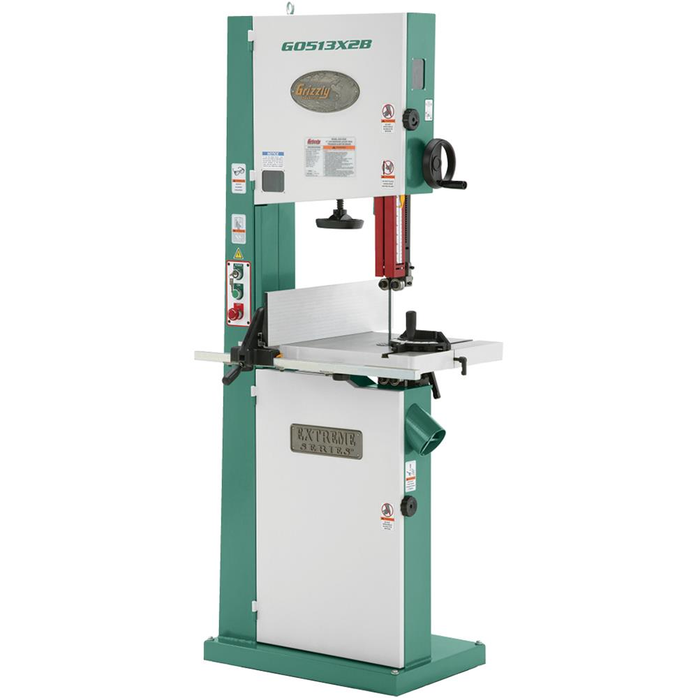 "Grizzly G0513X2B 17"" 2 HP Extreme-Series Bandsaw w/ Cast ..."