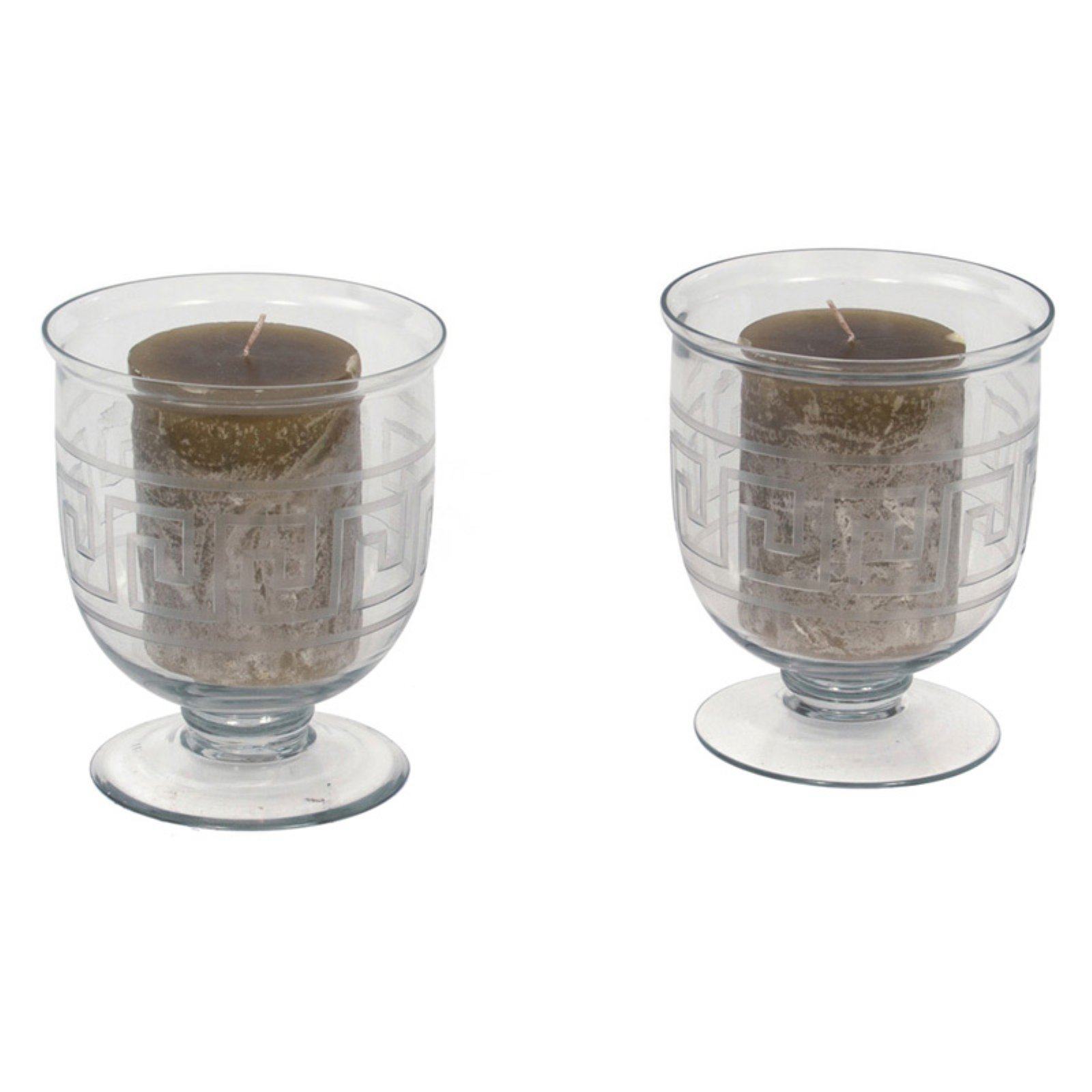 Hip Vintage Mykonos Hurricane Candle Holder - Set of 2