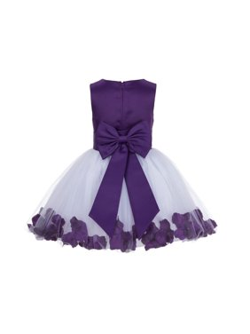 Ekidsbridal Rose Petals Flower Girl Dress Tulle Bridesmaid Wedding Pageant Toddler Recital Easter Holiday Communion Birthday Baptism Special Occasions Princess Formal Events Summer 305T